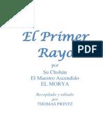 EL PRIMER RAYO. Maestro Ascendido El Morya-1