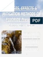 Effect cause and mitigation of flouride in water