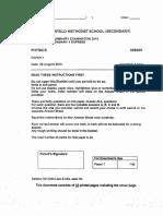 Sec 4 Physics SA2 2014 Fairfield P1