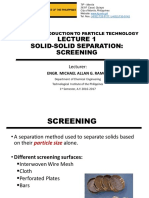 Lecture 1 - Screening