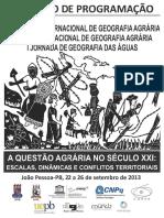 Caderno Programa Singa2013