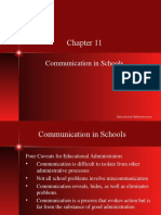 Ch11 Communication in Schools