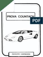 Prova Lamborghini Countach Owner's Handbook