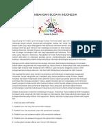 Analisa Perkembangan Budaya Indonesia