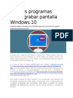 Mejores Programas Gratis Grabar Pantalla Windows 10