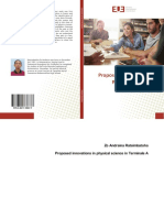 Proposed innovations in physical science in Terminale A