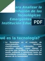 Modelo Para Analizar Difusión de Las Tecnológicas Emergentes en La Institución Educativa.