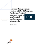 Credit Suisse - Independent Review of ESIAs for Ethiopian Railway 100614