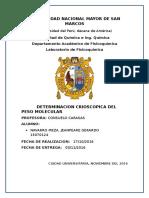 Determinacion Crioscopica Del Peso Molecular Final