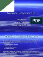 Network Economics 101.2007