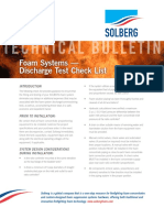 TechB 1011 Foam Systems Discharge Test Check List