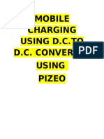 Dc to Dc Mobile Charging Using d