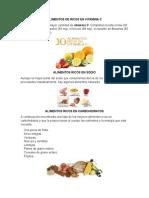 Alimentos de Ricos en Vitamina c