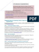 Extension of Parental Leave Approval Letter Template
