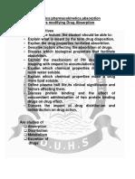 PHARMA Pharmacokinetics Absorption of Drug-1