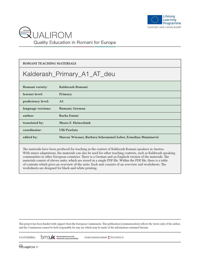 Kalderash Primary A1 at Deu