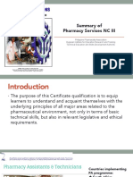 Summary of Pharmacy Services NC III