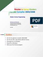 Ten Minutes to Setup Modern Fortran 2003-2008 on Windows - V2