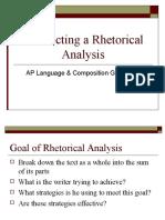 Conducting a Rhetorical Analysis Website