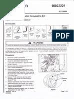 Maytag 12002039 Motor Conversion Instructions