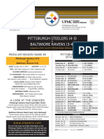 Pittsburgh Steelers At Baltimore Ravens (Nov. 6)
