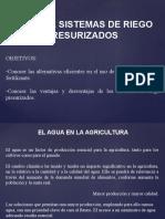 3. Generalidades de Sistemas de Riego 4o Foro de UGNV 1 de 4