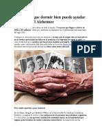 Descubren Que Dormir Bien Puede Ayudar a Prevenir El Alzheimer