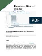 PHP Exercicios