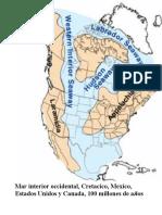 Mar Interior Accidental Cretacico Mexico Estados Unidos y Canada