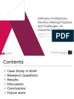 Software Architecture Decision-Making Practices and Challenges