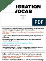 immigration vocab