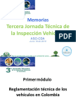 Memorias Tercera Jornada Tecnica de La Inspeccion Vehicular