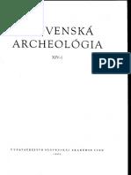 Slovenska Archeologia XIV-1, 1966