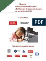 Foro de Análisis Modelo Educativo2016
