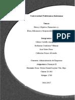Ética y Objetivo Financiero