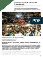 Mídia Internacional Questiona o Descaso Da Grande Mídia Brasileira Com a Onda de Ocupações