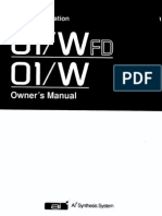 Korg 01WFD 01W Owners Manual