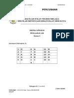 Skema Percubaan P3 SSN SMK s Kota 2016