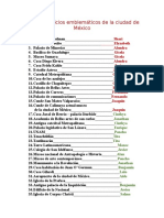 Lista de Edificios Emblemáticos de La Ciudad de México