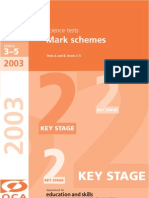 2003 Science Mark Scheme