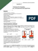 Capilaridad y Termodinamica Superficies