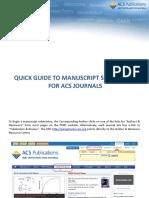Acs Manuscript Submission Quickguide
