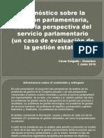 CDG - Diagnóstico de gestión pública en el Congreso peruano (PERU, 2010)