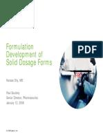 Formulation Development of Solid Dosage Form