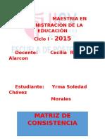 Chavez Matriz de Consistencia