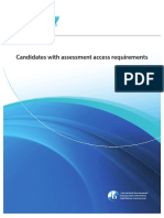 Candidates With Assessment Access Requirements