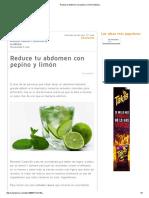 Reduce Tu Abdomen Con Pepino y Limón _ Belleza