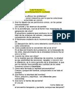 Cuestionario Unificado 1er. Parcial Terapia Basada en La Persona
