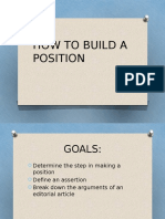 How to Build a Position