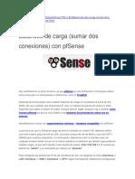 Balanceo de Carga (Sumar Dos Conexiones) Con PfSense